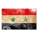 Syria Flag Sticker (Rectangle)