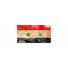 Syria Flag 42x14 Wall Peel