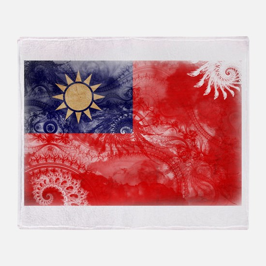Taiwan Flag Throw Blanket