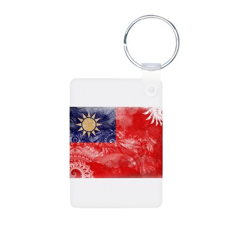 Taiwan Flag Aluminum Photo Keychain