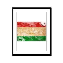 Tajikistan Flag Framed Panel Print
