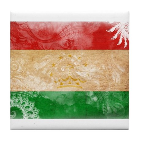 Tajikistan Flag Tile Coaster