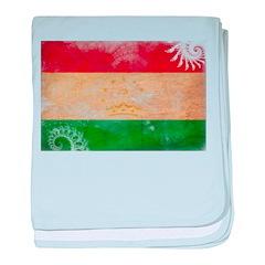 Tajikistan Flag baby blanket
