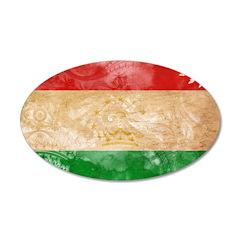 Tajikistan Flag 22x14 Oval Wall Peel