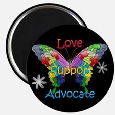 Autism Awareness Butterfly Magnet