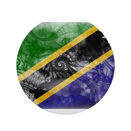 """Tanzania Flag 3.5"""" Button"""