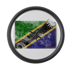 Tanzania Flag Large Wall Clock