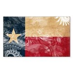 Texas Flag Sticker (Rectangle 10 pk)