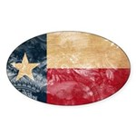 Texas Flag Sticker (Oval 50 pk)