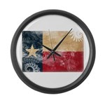 Texas Flag Large Wall Clock