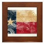 Texas Flag Framed Tile