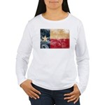 Texas Flag Women's Long Sleeve T-Shirt