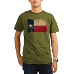 Texas Flag Organic Men's T-Shirt (dark)