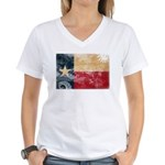 Texas Flag Women's V-Neck T-Shirt