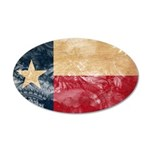 Texas Flag 22x14 Oval Wall Peel
