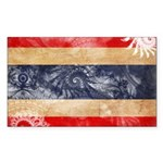 Thailand Flag Sticker (Rectangle 50 pk)
