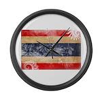 Thailand Flag Large Wall Clock