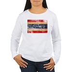 Thailand Flag Women's Long Sleeve T-Shirt