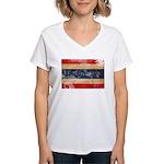 Thailand Flag Women's V-Neck T-Shirt