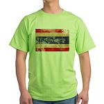 Thailand Flag Green T-Shirt