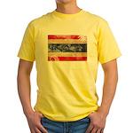 Thailand Flag Yellow T-Shirt