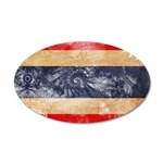 Thailand Flag 22x14 Oval Wall Peel