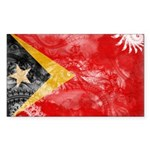 Timor Leste Flag Sticker (Rectangle 10 pk)