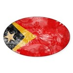 Timor Leste Flag Sticker (Oval 10 pk)