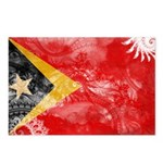 Timor Leste Flag Postcards (Package of 8)