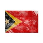 Timor Leste Flag Rectangle Magnet
