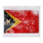 Timor Leste Flag Throw Blanket