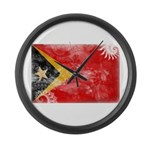 Timor Leste Flag Large Wall Clock