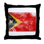 Timor Leste Flag Throw Pillow