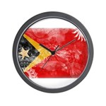 Timor Leste Flag Wall Clock