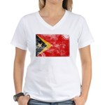 Timor Leste Flag Women's V-Neck T-Shirt