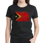 Timor Leste Flag Women's Dark T-Shirt