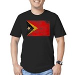 Timor Leste Flag Men's Fitted T-Shirt (dark)