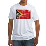 Timor Leste Flag Fitted T-Shirt