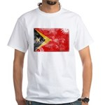 Timor Leste Flag White T-Shirt