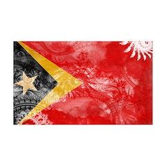 Timor Leste Flag 38.5 x 24.5 Wall Peel