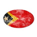 Timor Leste Flag 22x14 Oval Wall Peel