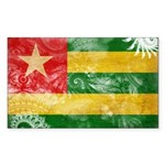 Togo Flag Sticker (Rectangle 10 pk)