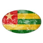 Togo Flag Sticker (Oval 10 pk)