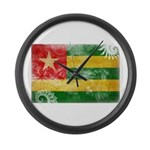 Togo Flag Large Wall Clock
