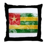 Togo Flag Throw Pillow
