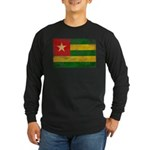 Togo Flag Long Sleeve Dark T-Shirt