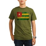 Togo Flag Organic Men's T-Shirt (dark)