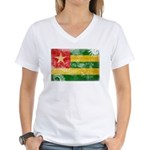 Togo Flag Women's V-Neck T-Shirt