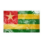 Togo Flag 38.5 x 24.5 Wall Peel
