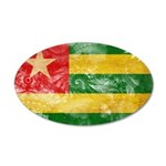 Togo Flag 22x14 Oval Wall Peel